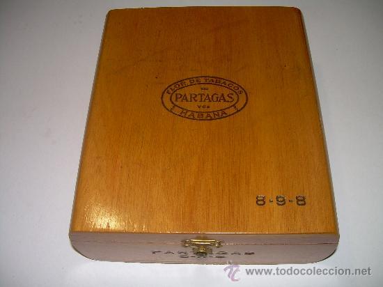 Cajas y cajitas metálicas: ANTIGUA CAJA DE MADERA NOBLE...........PUROS..............PARTAGAS 8.9.8 - Foto 5 - 21129943