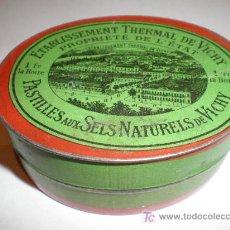 Cajas y cajitas metálicas: PRECIOSA CAJITA DE CHAPA - PASTILLES VICHY. Lote 26626479