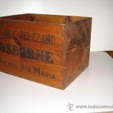 Casse e cassette metalliche: CAJA DE MADERA OSBORNE BRANDY JEREZANO INMONIAZADA DE CARCOMA. Lote 25501538