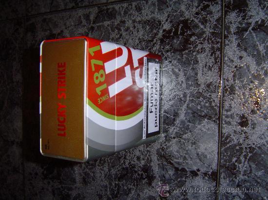 CAJA METALICA VACÍA GRANDE DE LUCKI STRIKE (Coleccionismo - Cajas y Cajitas Metálicas)