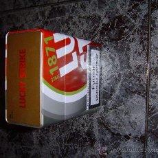 Cajas y cajitas metálicas: CAJA METALICA VACÍA GRANDE DE LUCKI STRIKE. Lote 26012087