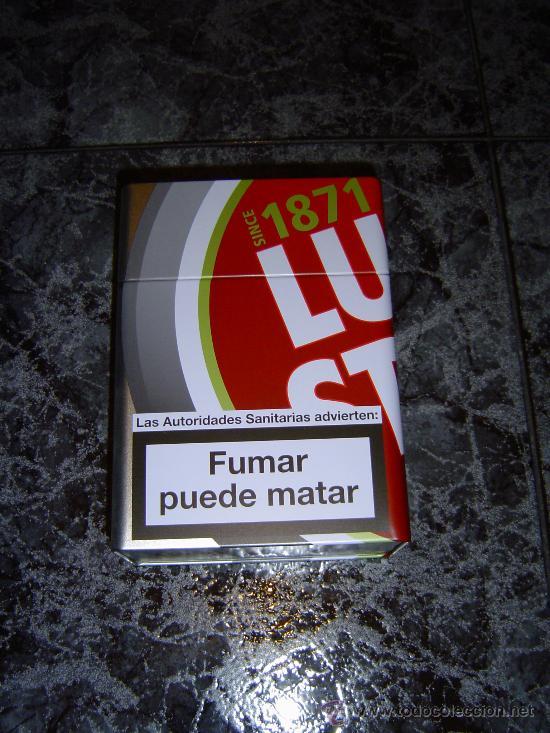 Cajas y cajitas metálicas: CAJA METALICA VACÍA GRANDE DE LUCKI STRIKE - Foto 2 - 26012087
