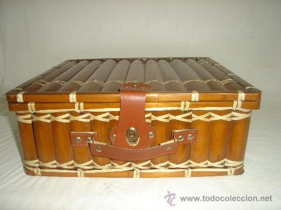 Bonita maleta echa con medias ca as de bamb o comprar - Cosas antiguas para decorar ...