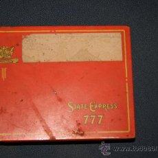 Cajas y cajitas metálicas: LATA DE CIGARROS TABACO 777. STATE EXPRESS CIGARETTES. . Lote 25935635