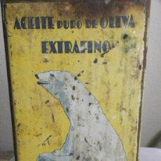 Cajas y cajitas metálicas: LATA BIDON ACEITE ESPAÑOL OLIVA LA OSA OLEUM ANDÚJAR / OVIEDO C. 1940. Lote 26543860