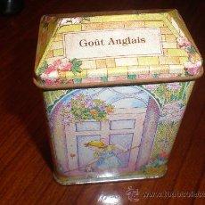 Cajas y cajitas metálicas: LATA DE TE DECORADA. Lote 27014329