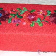 Cajas y cajitas metálicas - caja rusa bordada años 40 - 26918849