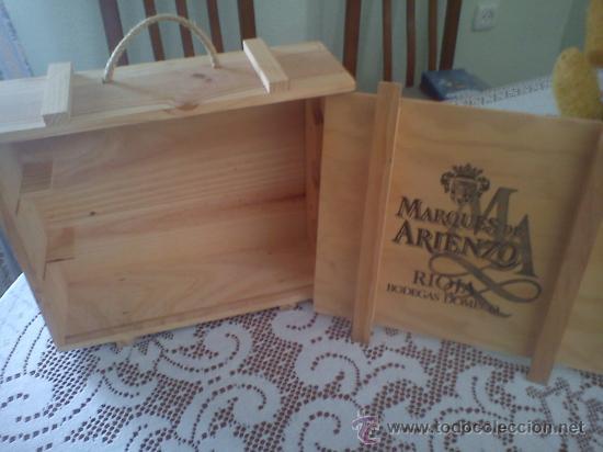 cajas y cajitas metlicas caja de madera vacia para botellas de vino marques de