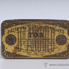 Cajas y cajitas metálicas: CAJITA METALICA DE FARMACIA: PASTA PECTORAL DEL DR. ANDREU CONTRA LA TOS. Lote 25386555