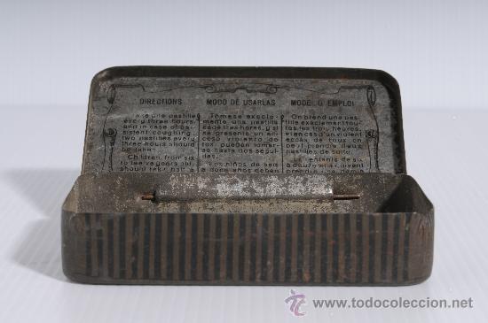 Cajas y cajitas metálicas: Cajita metalica de farmacia: Pasta pectoral del Dr. Andreu contra la tos - Foto 2 - 25386555