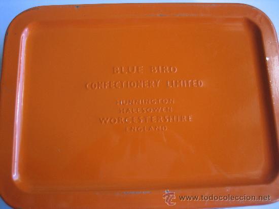 Cajas y cajitas metálicas: Caja lata caramelos ingleses Blue Bird. Años 70 - Foto 2 - 26846979