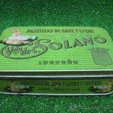 Cajas y cajitas metálicas: CAJA METALICA - PASTILLAS DE CAFE Y LECHE Y TOFFEES - . Lote 25729779