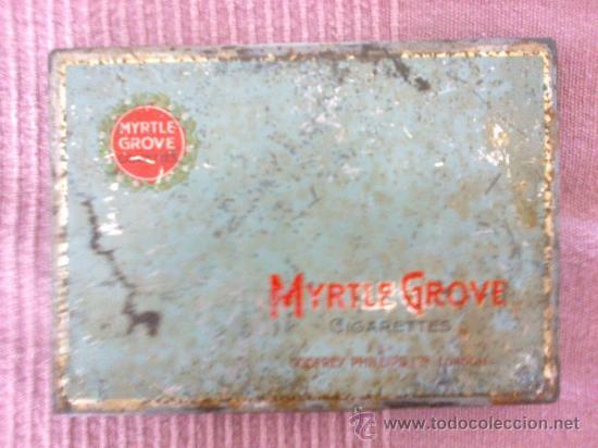 CAJA CAJITA DE CIGARRILLOS - LATA - MYRTLE GROVE (Coleccionismo - Cajas y Cajitas Metálicas)