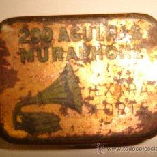 Cajas y cajitas metálicas: CAJA DE GRAMOFONO 200 AGUJAS MURAPHONE EXTRA FORTE . Lote 26657053