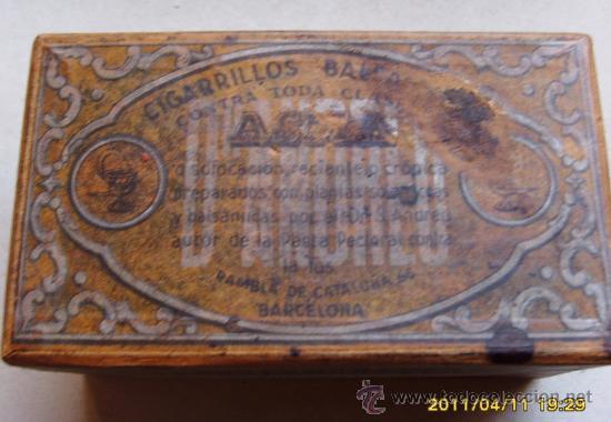 CIGARRILLOS BALSAMICOS DEL DR. ANDREU (Coleccionismo - Cajas y Cajitas Metálicas)