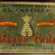 Cajas y cajitas metálicas: ESPINARDO (MURCIA).- CAJA PARA AZAFRAN DE EXPORTACIÓN, TAMAÑO 13X8X4,5(ALTO).. Lote 129030147