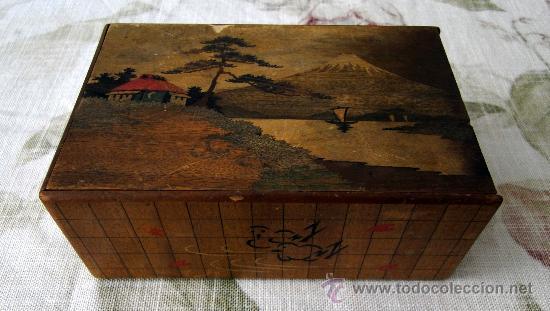 antigua caja de madera pintada a mano una maravilla con cajn secreto ver video