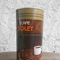 Cajas y cajitas metálicas: BOTE DE CAFE SOLEY. Lote 28572032