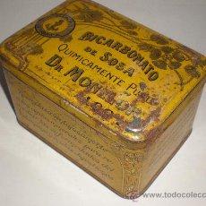 Cajas y cajitas metálicas: CAJA DE HOJALATA LITOGRAFIADA *BICARBONATO DE SOSA* DR. MONLLOR, ALCOY-ALICANTE, CIRCA 1900. Lote 28837653