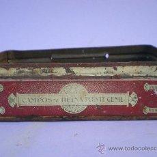 Cajas y cajitas metálicas: LATA CONSERVAS *CAMPOS Y REINA PUENTE GENIL*, DULCE DE MEMBRILLO CLASE EXTRA. Lote 28852542