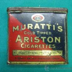 Cajas y cajitas metálicas: CAJA METALICA DE TABACO MURATTI´S ARISTON LONDRES. Lote 28894351