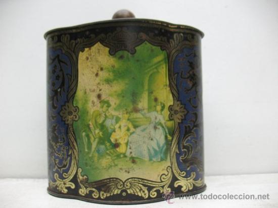 ANTIGUA CAJA DE HOJALATA CON DIBUJOS (Coleccionismo - Cajas y Cajitas Metálicas)
