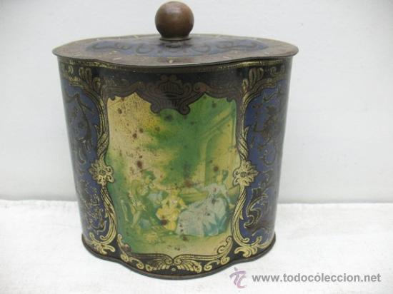 Cajas y cajitas metálicas: ANTIGUA CAJA DE HOJALATA CON DIBUJOS - Foto 2 - 28951223