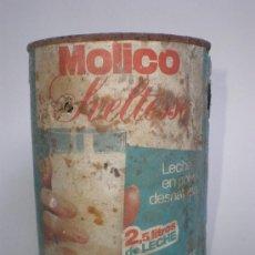 Cajas y cajitas metálicas: BOTE *MOLICO* SVELTESSE, LECHE EN POLVO DESNATADA -MOD.1- PESO NETO: 250 GR.. Lote 29026413