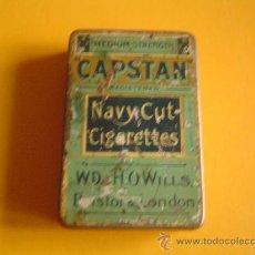 Cajas y cajitas metálicas: CAJA METALICA CIGARROS CAPSTAN.. Lote 29040398