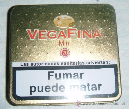 CAJA METALICA DE TABACO VEGAFINA MINI (Coleccionismo - Cajas y Cajitas Metálicas)