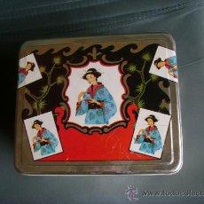 Cajas y cajitas metálicas: BONITA CAJA METALICA DECORACION ORIENTAL. A.VALVERDE Y GIL, CABEZA DE TORRES (MURCIA). Lote 29203703