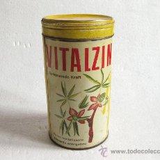 Cajas y cajitas metálicas: BOTE DE LATA VITALZIN - SUIZA - VITAMINAS - AÑOS 50. Lote 29419784