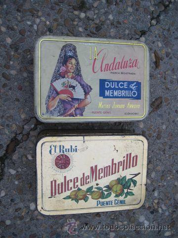 ANTIGUAS LATAS LATA DE MEMBRILLO (Cajas y Envases - Cajas y Cajitas Metálicas)