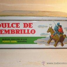 Cajas y cajitas metálicas: LATA CONSERVAS DULCE DE MEMBRILLO, MIGUEL CHACON RIVAS, PUENTE GENIL, FABRICADO 1966/67, 6 KILOS. Lote 29769847