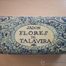 Cajas y cajitas metálicas: CAJA DE CARTON , FLORES DE TALAVERA.GAL JABON. Lote 29770922
