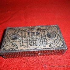 Cajas y cajitas metálicas: ANTIGUA CAJITA DE HOJALATA PASTA PECTORAL INFALIFLE PARA LA TOS. Lote 29841789