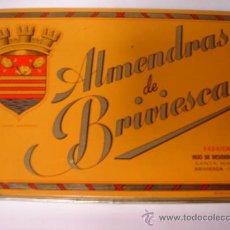Cajas y cajitas metálicas: CAJA METALICA ALMENDRAS DE BRIVIESCA HIJOS DE DESIDERIO ALONSO BURGOS AÑOS 60 70. Lote 30214218