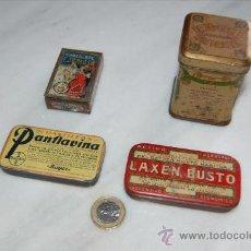 Cajas y cajitas metálicas: ESTUPENDO LOTE DE 4 CAJITAS METÁLICAS (PLANFAVINA, LAXENBUSTO, KOLA Y CACAO Y CHOCOLATE). Lote 30358088