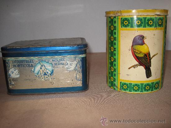 CAJITA Y BOTE METALICO, LITOGRAFIADOS. MOLINA DE SEGURA ( MURCIA ) (Coleccionismo - Cajas y Cajitas Metálicas)