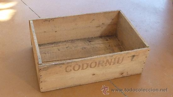 antigua caja de madera de cava codorniu vino e Comprar Cajas