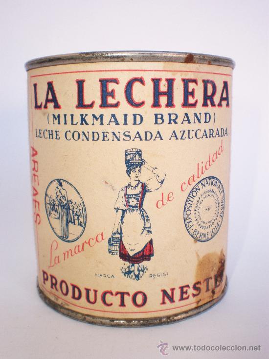 Antiguo bote *la lechera* -año 1954- , leche co - Vendido en Venta Directa  - 30568627
