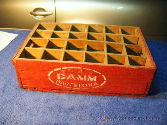 Caja madera cerveza damm barcelona buen estad comprar cajas antiguas y cajitas met licas en - Cajas de madera barcelona ...