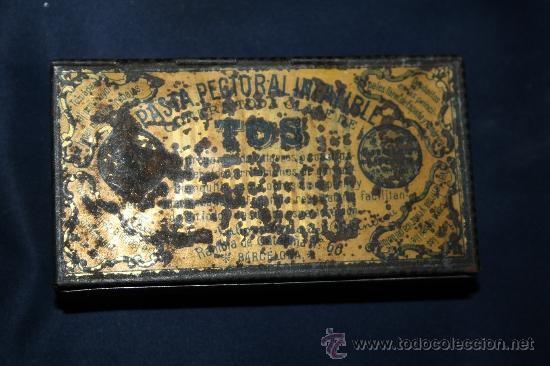 BONITA CAJA DE HOJALATA - PASTA PECTORAL PARA LA TOS - BARCELONA (Coleccionismo - Cajas y Cajitas Metálicas)