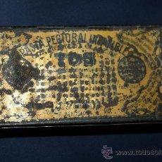 Cajas y cajitas metálicas: BONITA CAJA DE HOJALATA - PASTA PECTORAL PARA LA TOS - BARCELONA. Lote 30715578