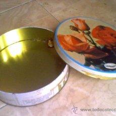 Cajas y cajitas metálicas: LATA DE TORTAS IMPERIALES JIJONA ALICANTE FABRIA TURRONES ISMAEL SIRVENT. Lote 30754830