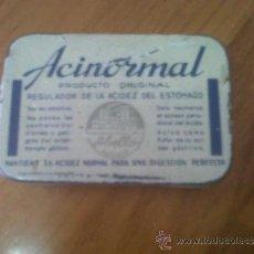 Cajas y cajitas metálicas: ANTIGUA CAJITA METALICA FARMACIA HOJALATA ACINORMAL ABELLO MADRID. Lote 30942540