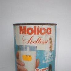 Cajas y cajitas metálicas: BOTE LECHE *MOLICO* SVELTESSE, LECHE EN POLVO DESNATADA, 250 GR. -MOD.1- CON CONTENIDO, DE NESTLÉ. Lote 129101602