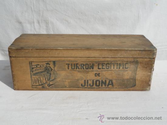 Antigua caja de madera de turron de jijona comprar - Caja madera antigua ...