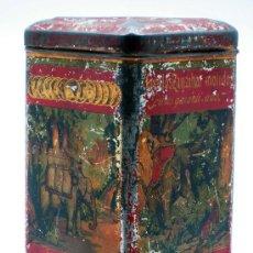 Cajas y cajitas metálicas: CAJA LATA CLAVILLOS ZANZÍBAR MOLIDOS ANTONIO CAUBET BARCELONA AÑOS 10 - 20. Lote 31143998