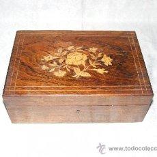 Cajas y cajitas metálicas: CAJA DE MARQUETERIA. Lote 31532846